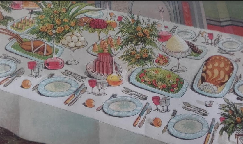 Mrs Beetons Supper Table, date unknown