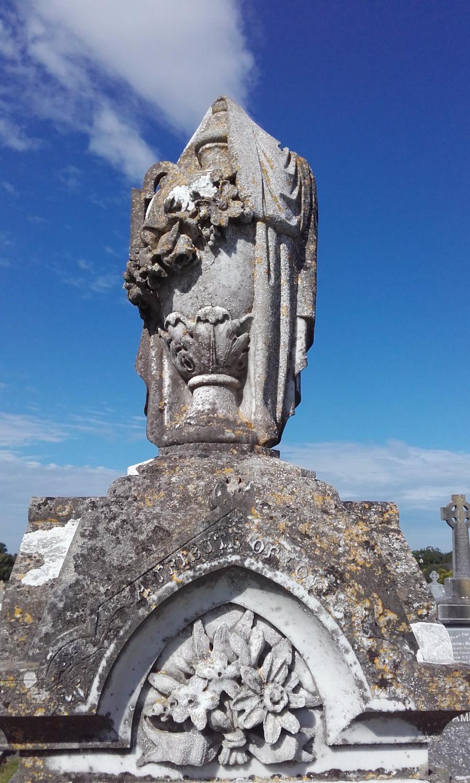 Urn on Nolan Headstone, Tuam Graveyard