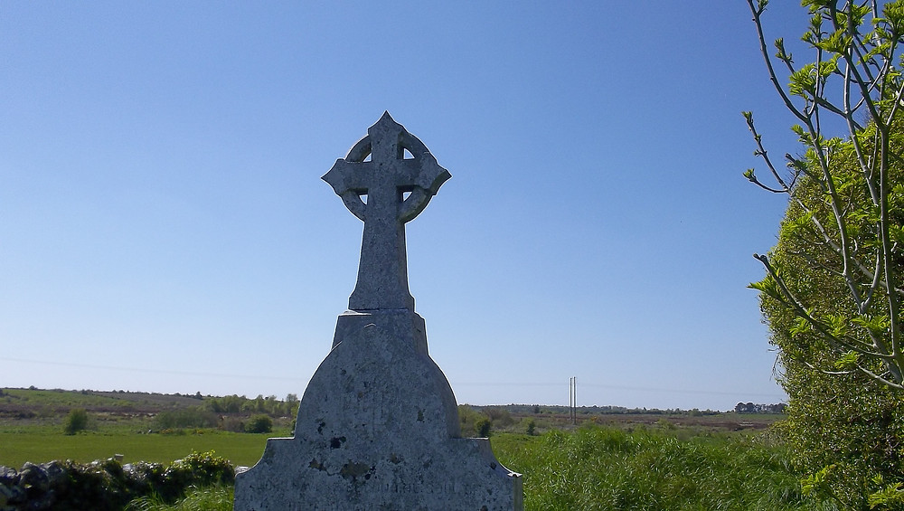 Cross at Kilcreevanty Graveyard, Co. Galway