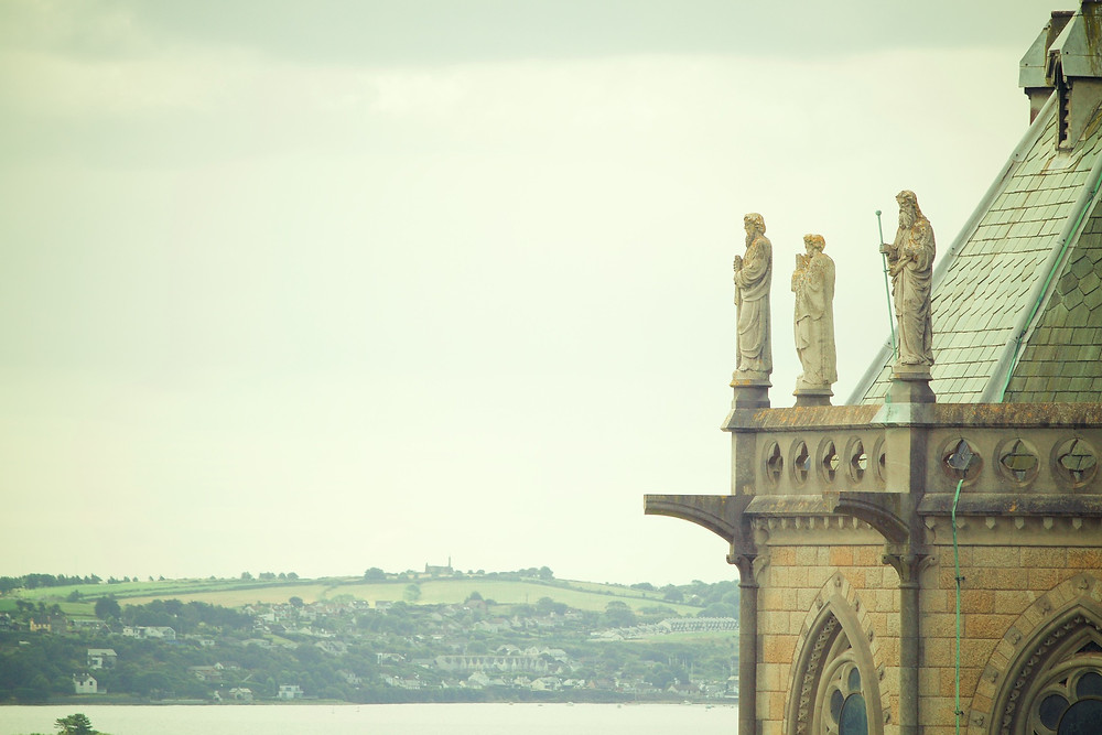 St. Colman's Cathedral, Cobh looking out to sea