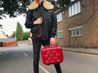 LFW: Arriving wearing Rubino Roo...