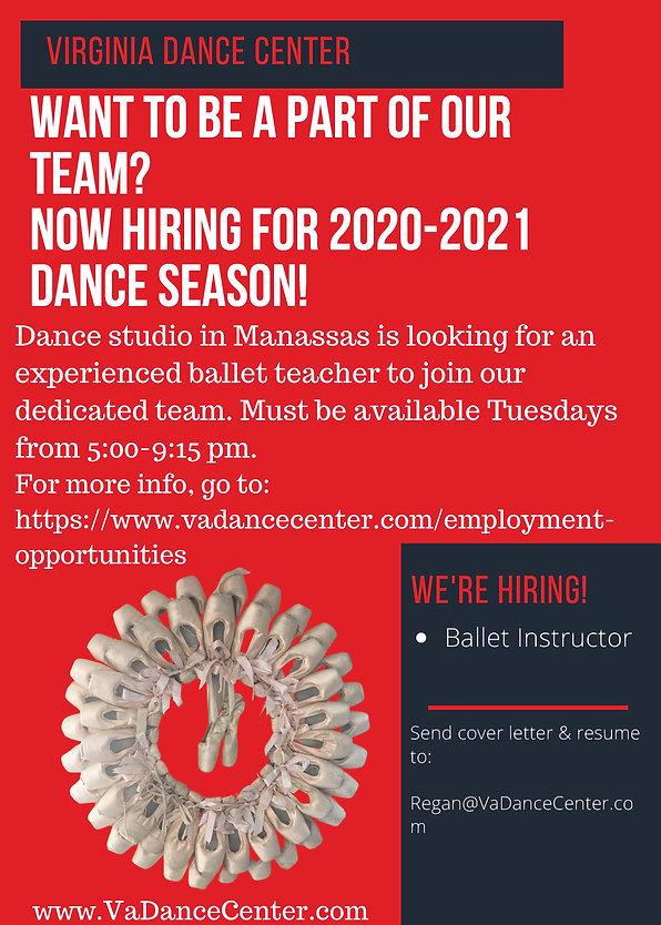 VDC Ballet Teacher Ad for website 2020.j