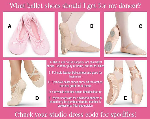 Virginia Dance Center dance class dress code