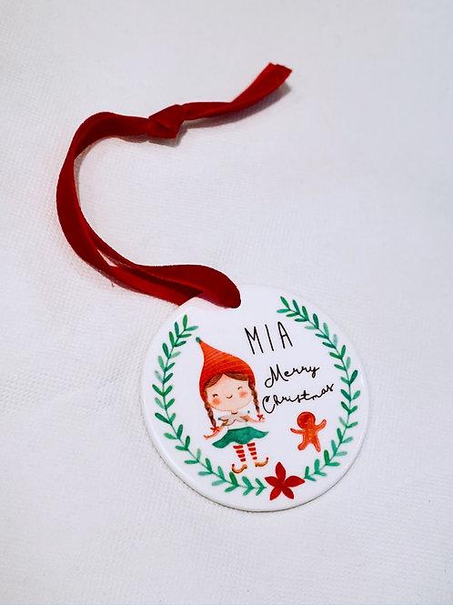 Personalised Ceramic Christmas Bauble