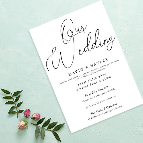 Plain & Simple Wedding Invite