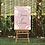 Thumbnail: Soft Floral Pink Welcome Sign