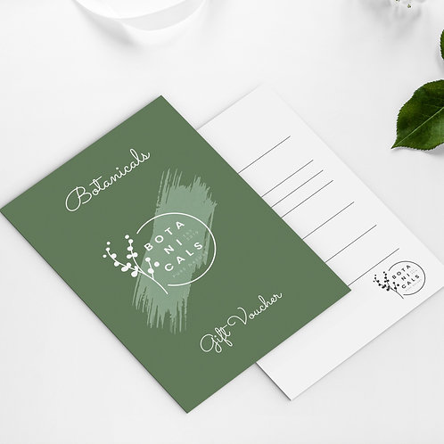High Quality A6 Business Gift Vouchers