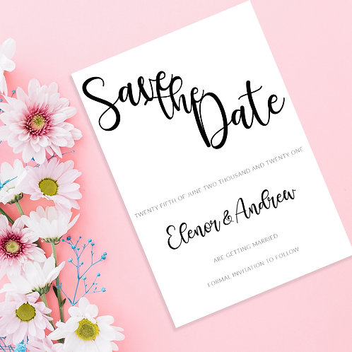 Simple Elegant Save the Dates A6