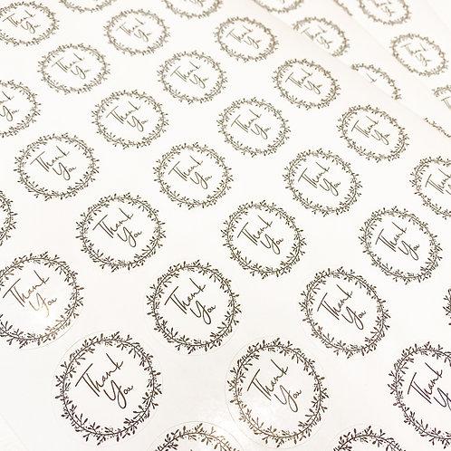 35mm Gloss Circle Logo Sticker Sheet