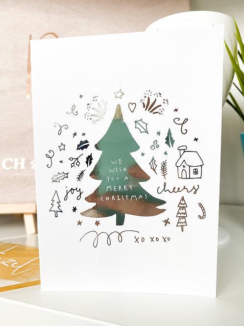 A6 Foiled Christmas Card