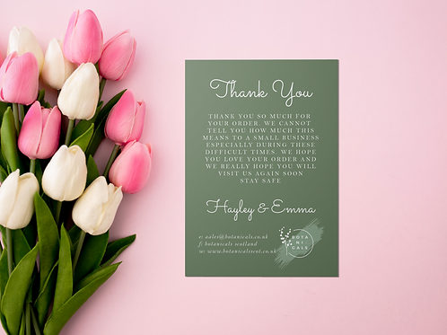 High Quality A6 Business Thank You Cards