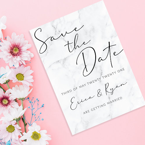 Marble Save the Dates A6