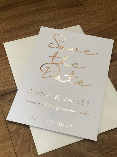 Modern Save the Dates A6