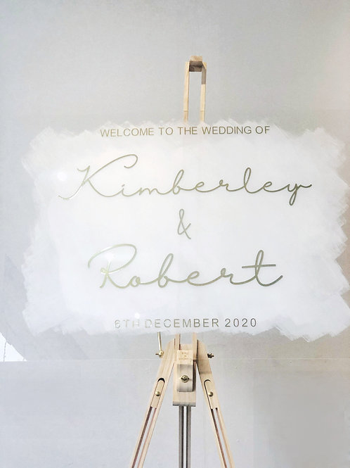 Painted Acrylic Welcome Sign