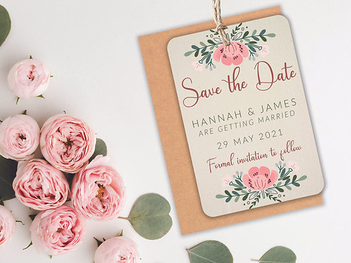 Floral Save the Dates A7