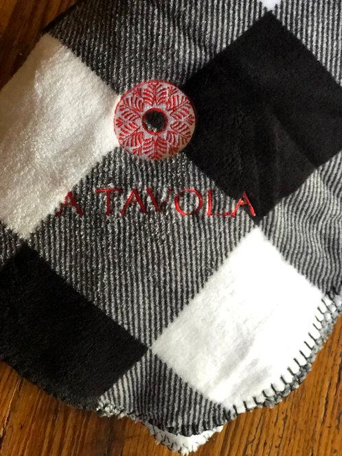 Embroidered 50x60 Fleece Throw Blanket