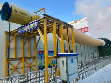 SWEDFAN DELIVER VENTILATION TO KASHUANG WATER TUNNEL, CHINA.