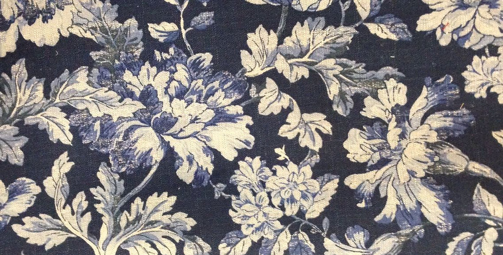 French Country Blues Floral Fabric