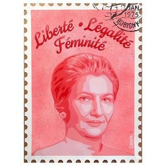 """""""Liberté, Légalité, Féminité"""" (Simone Veil) de Carole B"""