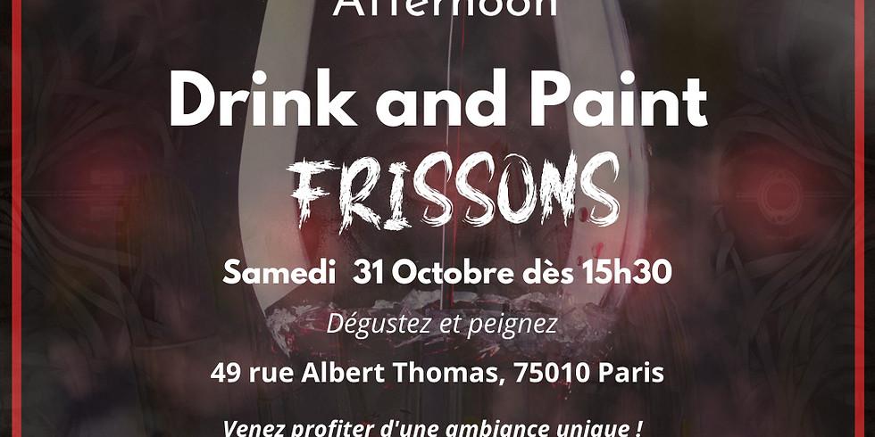 """""""Afternoon"""" 3 : Drink and Paint (sur le thème de l'épouvante)"""