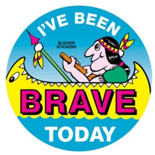 I've been Brave Today Indian Stickers  (2)
