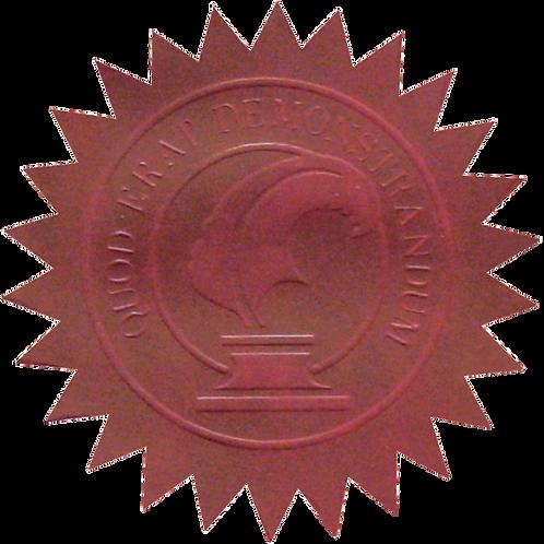 50mm Maroon Certificate Seal  (S0704)