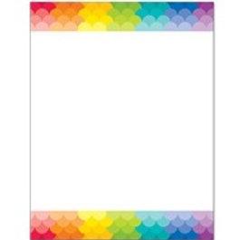 Blank Rainbow Coloured Chart Poster  (1129)