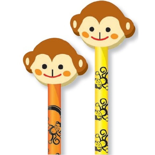 Monkey Pencil with Eraser  (53059)