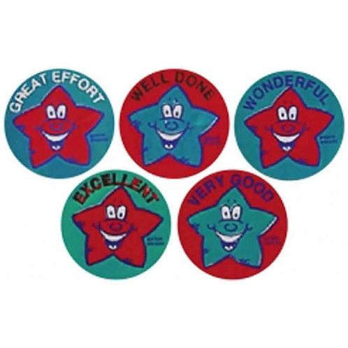 Red/Blue Star Metallic Multi Pack Stickers  (351)