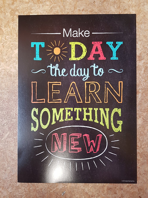 Make today the day to Learn something New Poster  (6683)