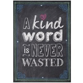 A Kind word is never Wasted Poster  (6696)