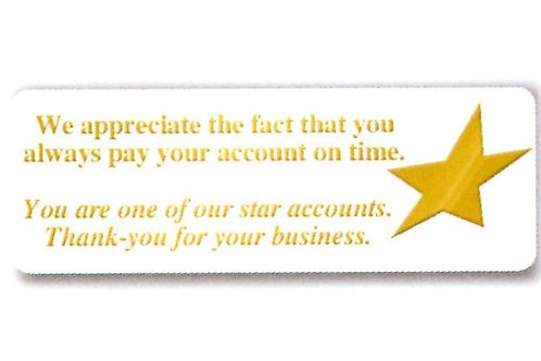 One of our Star Accounts Stickers  (1317)