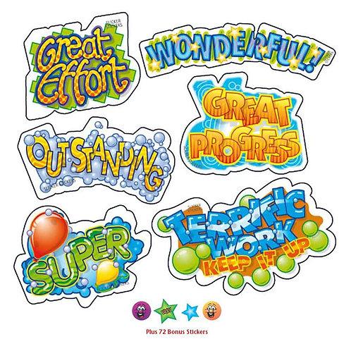 Transparent Multi Pack Stickers  (663)