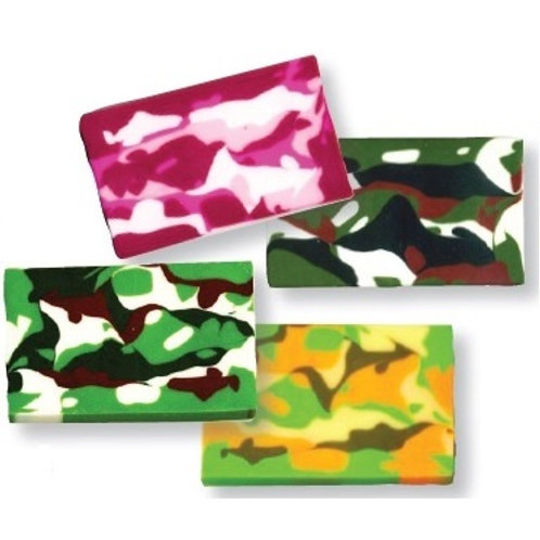 Camo Decorative Bar Eraser  (53818)