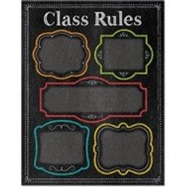 Class Rules Chalkboard Chart  (1020)
