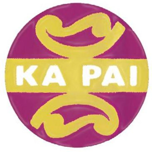 Ka Pai - Good in Maori Metallic Stickers  (810)