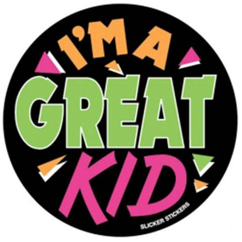 I'm a Great Kid Stickers  (4)