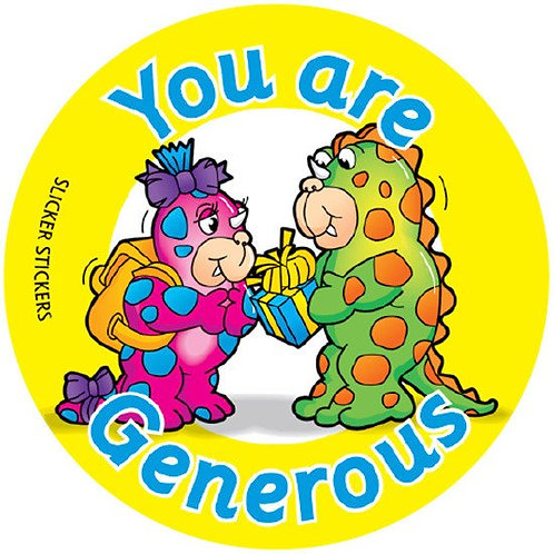 You are Generous Values Stickers  (176)