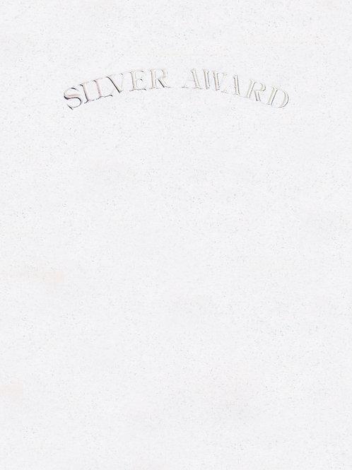 A4 Silver Award Testa'mur with Silver Foil  (1014)