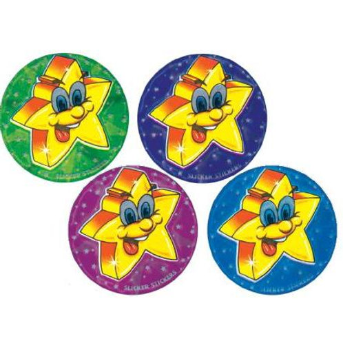 Metallic Star Multi Pack Stickers  (706)