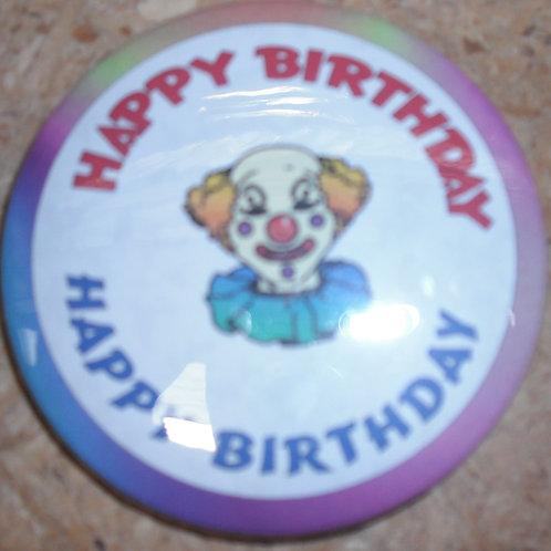 Happy Birthday Clown Badge (BA522)