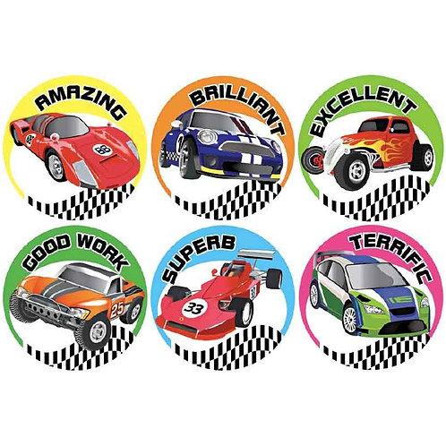 Racing Car Good Work Multi Pack Stickers  (723)