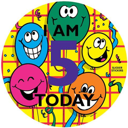 I am 5 Today Stickers  (243)