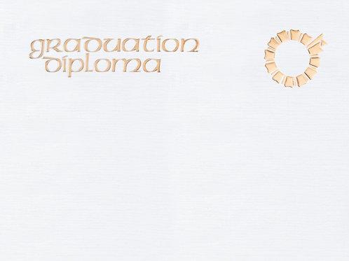 A4 Graduation Diploma Testa'mur with Gold Foil  (1003)