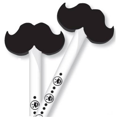 Mustache Pencil with Eraser  (53066)