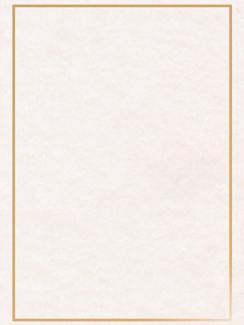 A4 Pewter Parchment Testa'mur with Gold Foil Border  (5239)