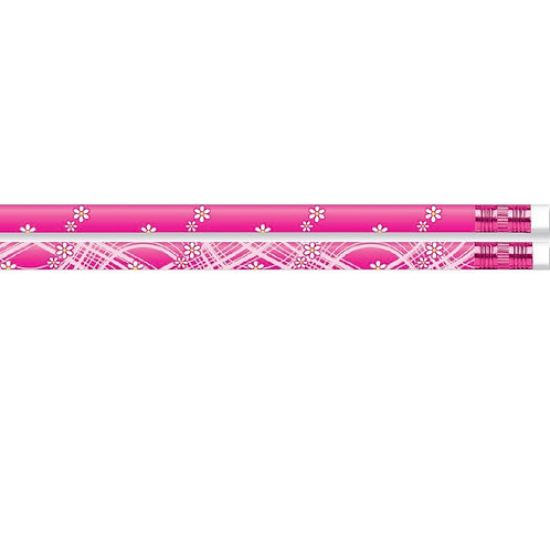 12pk Pink Style Pencils  (52189)