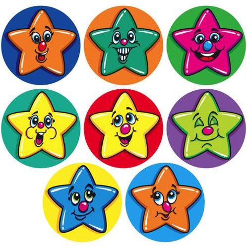 Coloured Mini Stars Multi Pack Stickers  (250)