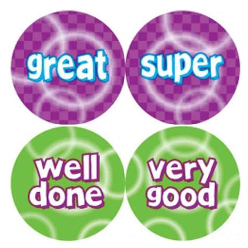 Great/Well Done Metallic Multi Pack Stickers  (258)