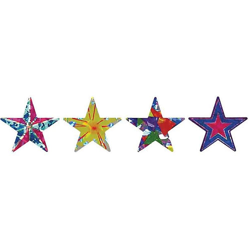 Holographic Star Multi Pack Stickers  (344)